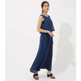 【AZUL BY MOUSSY】レースドッキングワンピース NVY