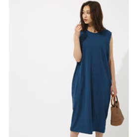 【AZUL BY MOUSSY】CUTノースリロングコクーンワンピース NVY