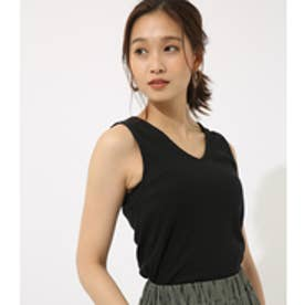 【AZUL BY MOUSSY】両Vカットリブタンク BLK
