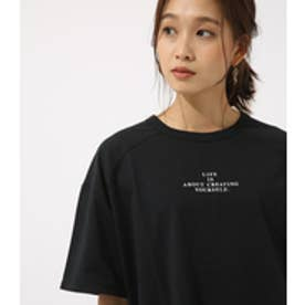 【AZUL BY MOUSSY】LIFE IS ルーズ TEE BLK