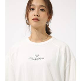 【AZUL BY MOUSSY】LIFE IS ルーズ TEE WHT
