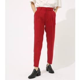【AZUL BY MOUSSY】カラースリムテーパードパンツ RED