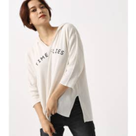 【AZUL BY MOUSSY】TIME FLIES サーマルフーディー O/WHT