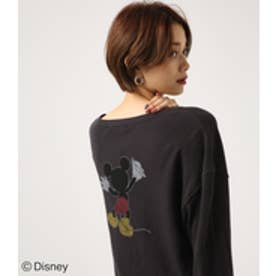 【AZUL BY MOUSSY】PAINT MICKEY サーマルプルオーバー【MOOK47掲載 97002】 L/BLK