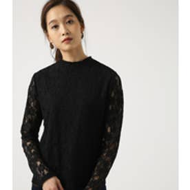 【AZUL BY MOUSSY】ハイネックレーストップス BLK