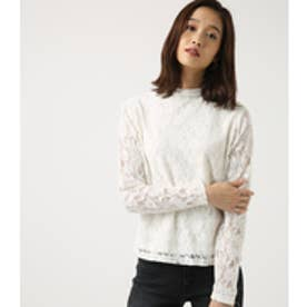 【AZUL BY MOUSSY】ハイネックレーストップス O/WHT