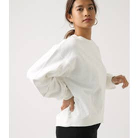 SLEEVE TUCK SWEAT TOPS O/WHT