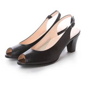 ビューフォートエレガンス BeauFort elegance 6センチヒールEEEオープントゥサンダル (ブラック)