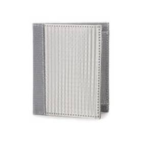 スチュワート スタンド STEWART/STAND ステンレス糸のコインケース付きウォレット/チェック (シルバー/チェック)