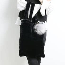 【ロコンド期間限定価格】アヴァンリリィ Avan Lily ポンポン付きエコファートート (BLK)