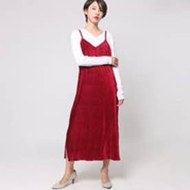 アヴァンリリィ Avan Lily プリーツベロアキャミOP (D/RED)