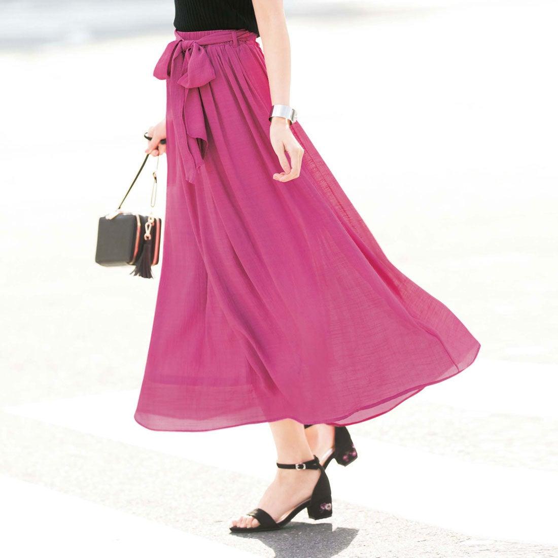 ff701ef2261e GeeRA ジーラ バイ リュリュ GeeRa by RyuRyu 楽チン!さらっと涼やかマキシスカート (ピンク) -靴&ファッション通販  ロコンド〜自宅で試着、気軽に返品