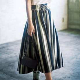 リュリュ RyuRyu ひんやり涼しいフィッシュテールロングスカート (ランダムストライプ)
