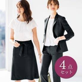 リュリュ RyuRyu うれしい4種の機能付!ベーシック4点スーツ (ブルーストライプ)