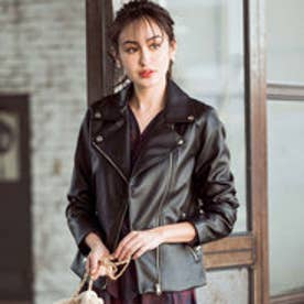 リュリュ RyuRyu ライダースジャケット (ブラック)