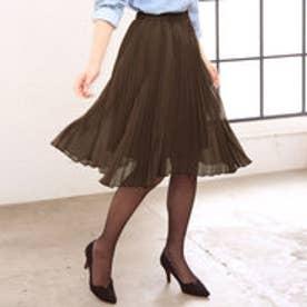 リュリュ RyuRyu 選べる2丈 シフォンプリーツスカート (チョコ-ミディアム)