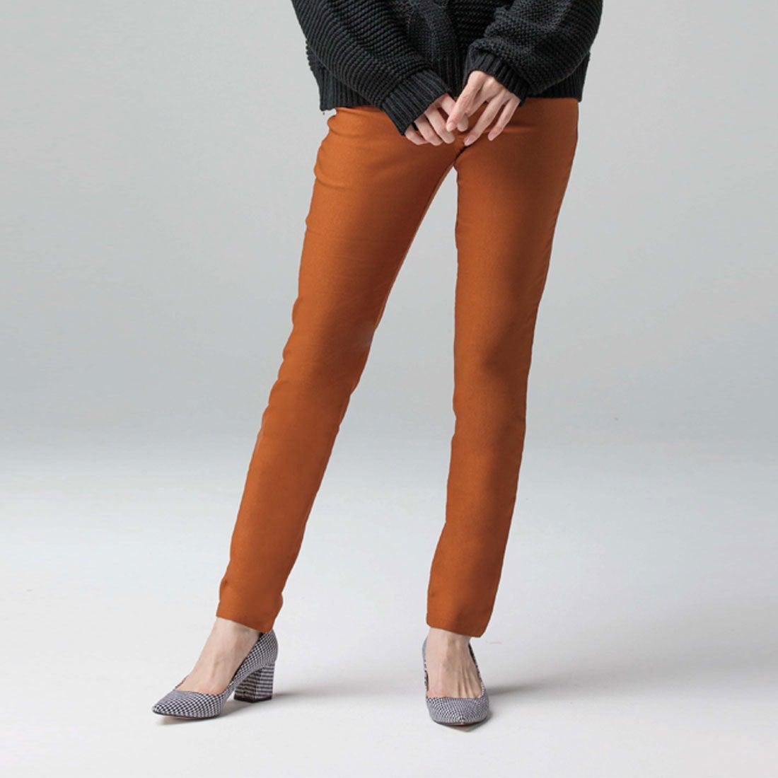 340d3df424acb3 GeeRA ジーラ バイ リュリュ GeeRa by RyuRyu ポカポカ蓄熱機能付!極暖!裏起毛スキニー (テラコッタ) -靴&ファッション通販  ロコンド〜自宅で試着、気軽に返品