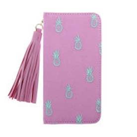 ヒッチハイクマーケット HITCH HIKE MARKET パイン刺繍iphoneケース (ピンク)
