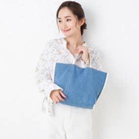 ヒッチハイクマーケット HITCH HIKE MARKET stitch line tote bag (サックス)