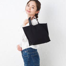 ヒッチハイクマーケット HITCH HIKE MARKET stitch line tote bag (ブラック)