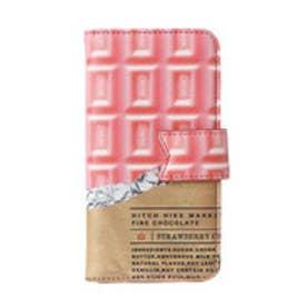 ヒッチハイクマーケット HITCH HIKE MARKET 板チョコ手帳型iPhoneケース (ピンク)