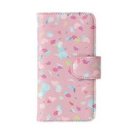 ヒッチハイクマーケット HITCH HIKE MARKET Confetti手帳型iphone6ケース (ピンク)