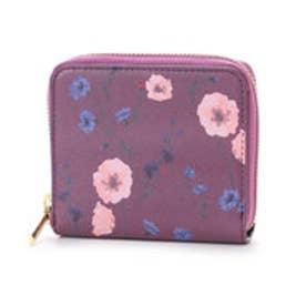 ヒッチハイクマーケット HITCH HIKE MARKET Elegance Flower二つ折り財布 (ボルドー)