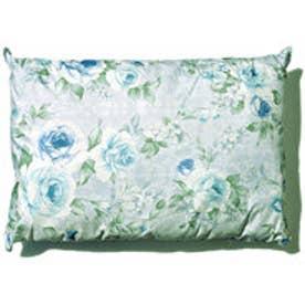 ボーマ BOMA 洗える花柄ポリエステル枕 (ブルー)