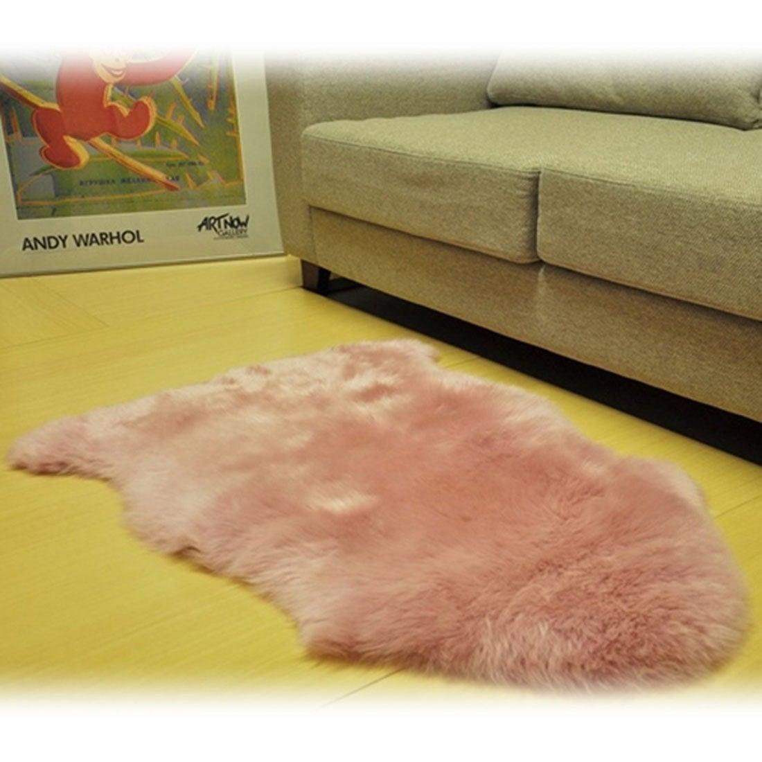 【SALE 49%OFF】ボーマ BOMA ムートン長毛ラグ 1匹サイズ 55×80cm (ピンク)