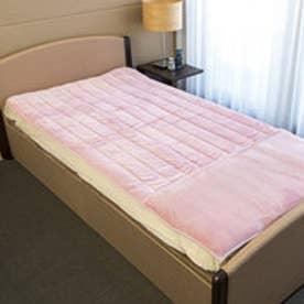 ボーマ BOMA 発熱素材サンバーナー使用 暖か敷きパッド 足入れポケット付 シングル (ピンク)