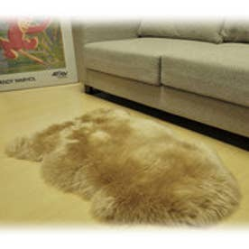 ボーマ BOMA ムートン長毛ラグ 1匹サイズ 55×80cm (ブラウン)
