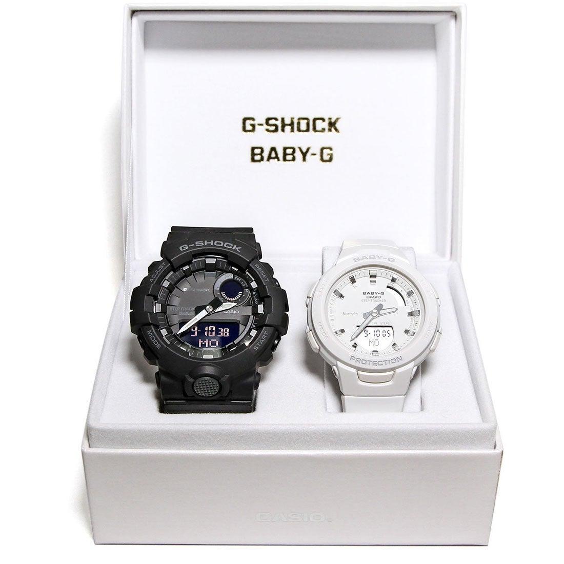 0baa2b434e 【G-SHOCK&BABY-G】Pair Model / G-SQUAD(ジー・スクワッド) / GBA-800-1AJF ×  BSA-B100-7AJF (ブラック×ホワイト) -靴&ファッション通販 ロコンド〜自宅で試着、 ...