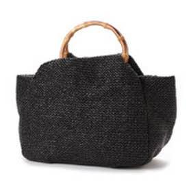 ビーフォーブロンティベイパリス b4BRONTIBAYPARIS カゴ素材ハンドバッグ (ブラック)