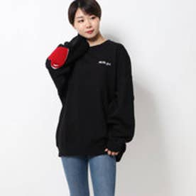 ミルクフェド MILKFED. HEART ELBOW SWEAT TOP (BLACK)