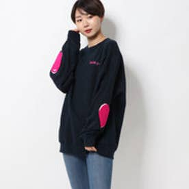 ミルクフェド MILKFED. HEART ELBOW SWEAT TOP (NAVY)