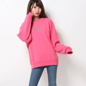 エックスガール X-girl LEOPARD LOGO CREW SWEAT TOP (PINK)
