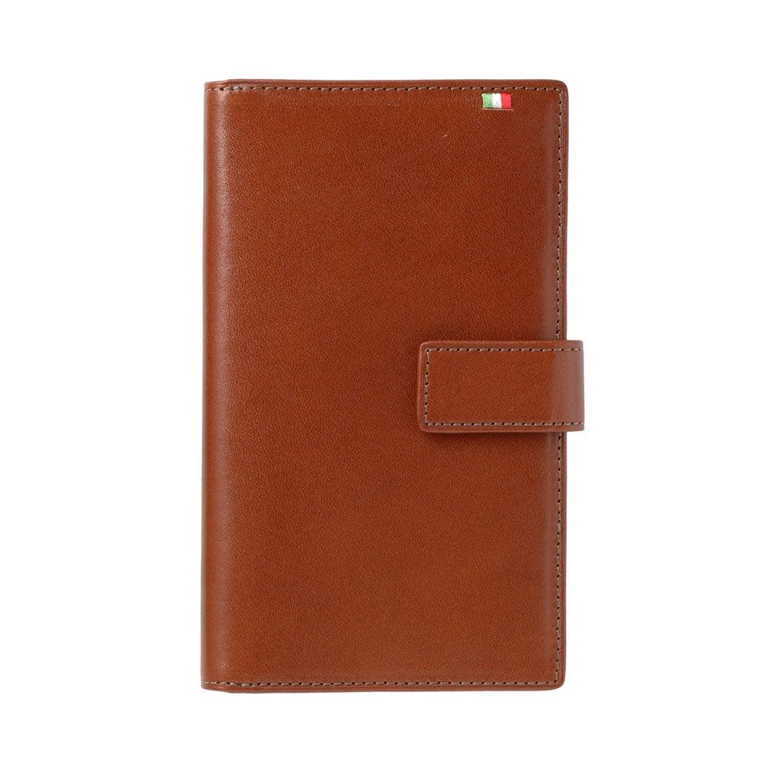 ミラグロ Milagro 30枚カード収納財布 (ブラウン/オレンジ)