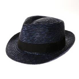 タナカ ハット 田中帽子店 Noah(ノア)麦わら中折れ帽子 (ブルー)