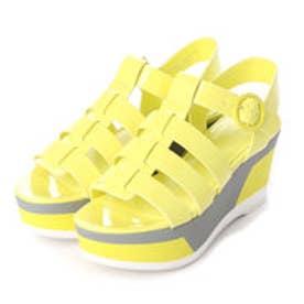 チャールズ & キース CHARLES & KEITH Platform Open Toe Sandals (Yellow)