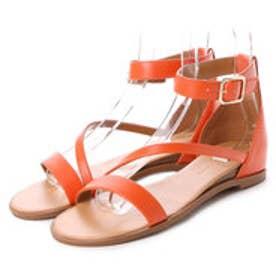 チャールズ & キース CHARLES & KEITH Derby Ankle Strap (Orange)