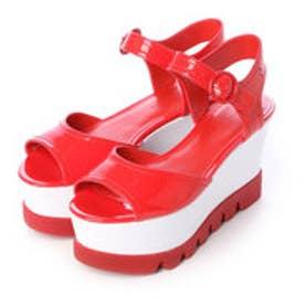 チャールズ & キース CHARLES & KEITH Platform Open Toe Sandals (Red)