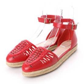 チャールズ & キース CHARLES & KEITH Covered Ankle Strap (Red)