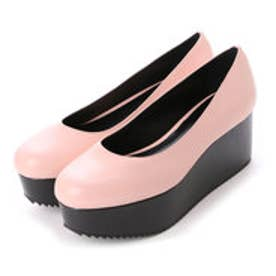 チャールズ & キース CHARLES & KEITH Platform Covered Ballerina (Pink)