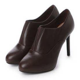 チャールズ & キース CHARLES & KEITH BootsCoveredBootie Heels (Dark Brown)