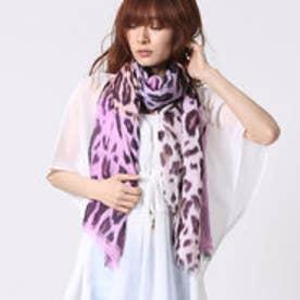 エコー ニューヨーク echo NEW YORK 708248Soft Cheetah color block tuwrp (Lilac)