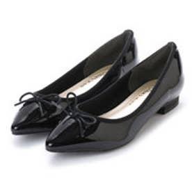 シンプルスタイル Simple Style Simple Style シンプルスタイル ポインテッドトゥ バレエシューズ Simple Style Import (ブラックエナメル)
