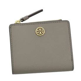 トリーバーチ TORYBURCH ROBINSON MINI WALLET (GRAY HERON)