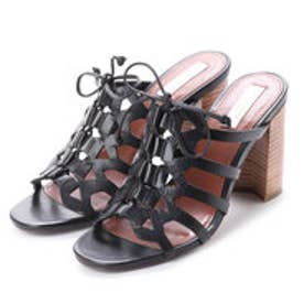 コール ハーン COLE HAAN CLAUDIA HIGH SANDAL (BLACK LEAT)