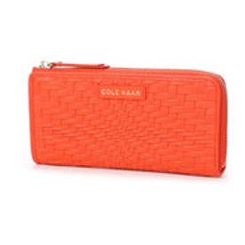 コール ハーン COLE HAAN LENA L ZIP WALLET (CITRUS RED)