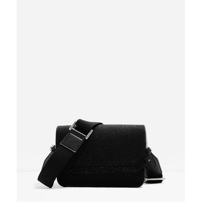 フロントフラップスリングバッグ / FRONT FLAP SLING BAG(Black)